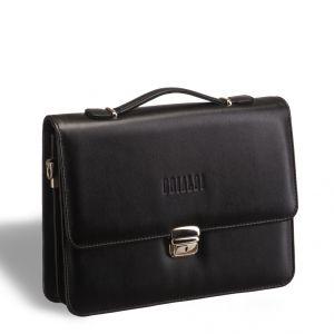 Компактный портфель для документов c отделениями BRIALDI Ameca (Амека) black