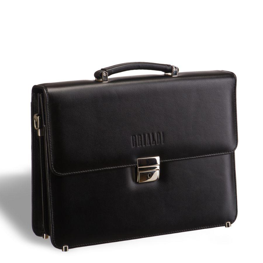 Стильный портфель классической формы BRIALDI Fleming (Флеминг) black