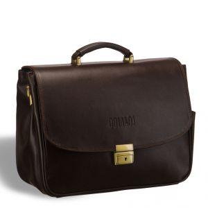 Вместительный деловой портфель BRIALDI Morton (Мортон) brown