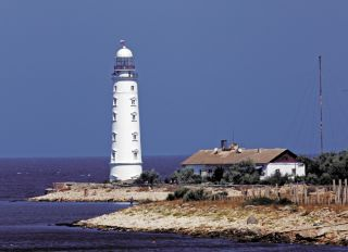 Postcard Chersonese lighthouse. Crimea