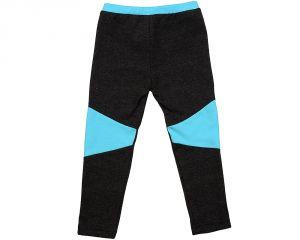 Серые брюки с голубыми вставками на девочку 1144