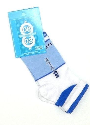 Бело-голубые детские носки