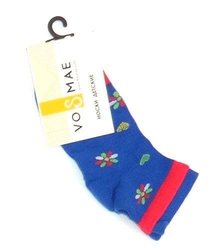Синие носки для девочки Цветочки