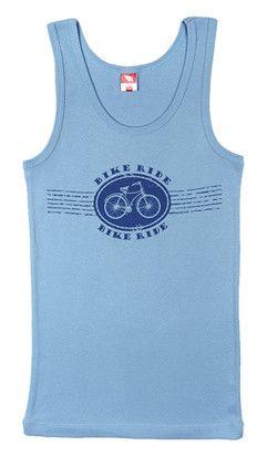 Майка для мальчика Езда на велосипеде