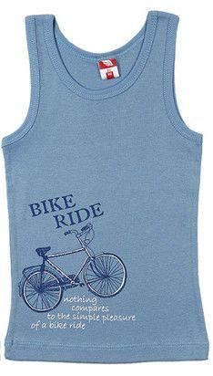 Синяя майка для мальчика Bike Ride