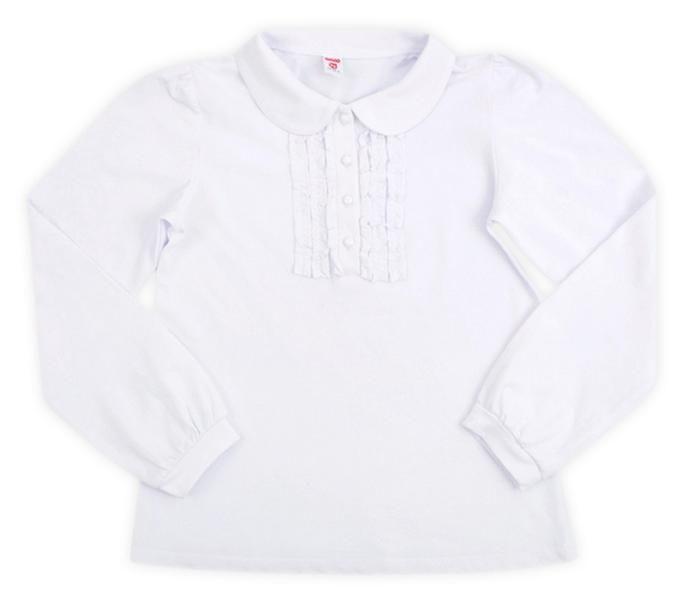 Блуза для девочки с круглым воротником