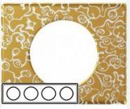 Рамка Legrand Celiane 3 поста фарфор Золотая Феерия (арт.69333)