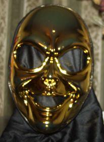 Маска Инопланетянина золотая