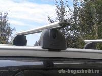 Багажник на интегрированные рейлинги Citroen C4 Aircross, Lux, аэродинамические дуги (53 мм)