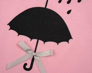 Розовый лонгслив с зонтиком на девочку