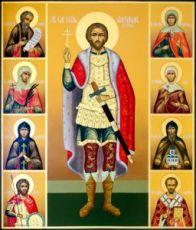 Икона Александр Невский (рукописная)