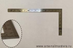 Угольник столярный плоский Shinwa, 150х75мм Sh 12103 М00003468