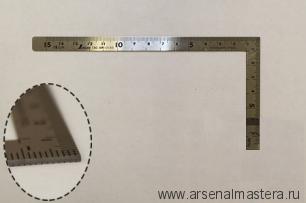 Угольник столярный плоский Shinwa 150 х 75 мм Sh 12103 М00003468