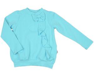 Блузка для девочки бирюзовая 0625