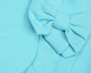 Блуза трикотажная на девочку с бантом