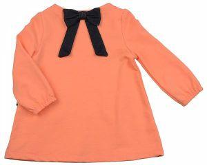 Персиковое платье для девочки 1267 Мини Макси