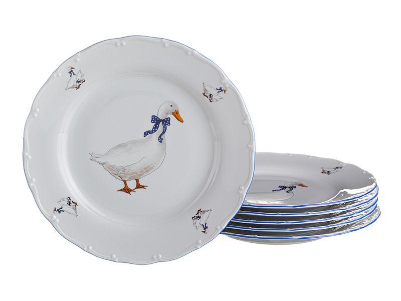 """Набор тарелок """"Гуси"""", 6 шт., 17 см"""
