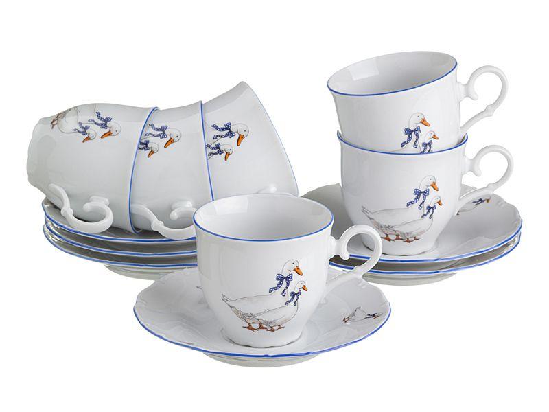 "Чайный набор на 6 персон ""Гуси"", 12 пр., 190 мл"