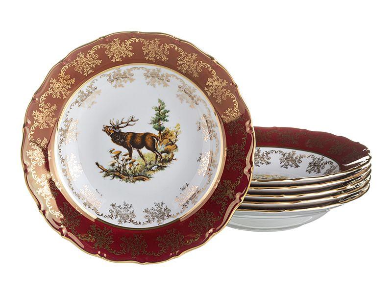 """Набор суповых тарелок """"Красная Охота"""", 6 шт., 23 см"""