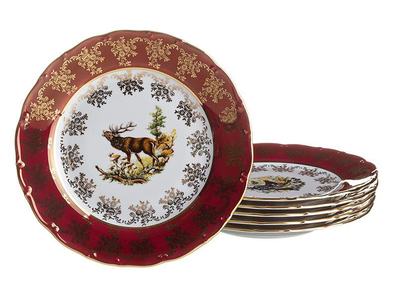 "Набор тарелок ""Красная Охота"", 6 шт., 21 см"