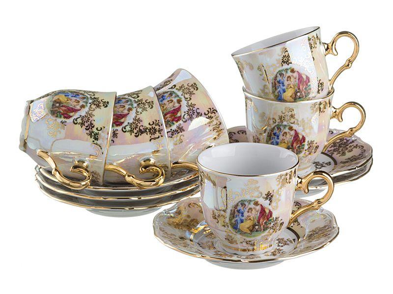 "Чайный набор на 6 персон ""Мадонна"", 12 пр., 210 мл"
