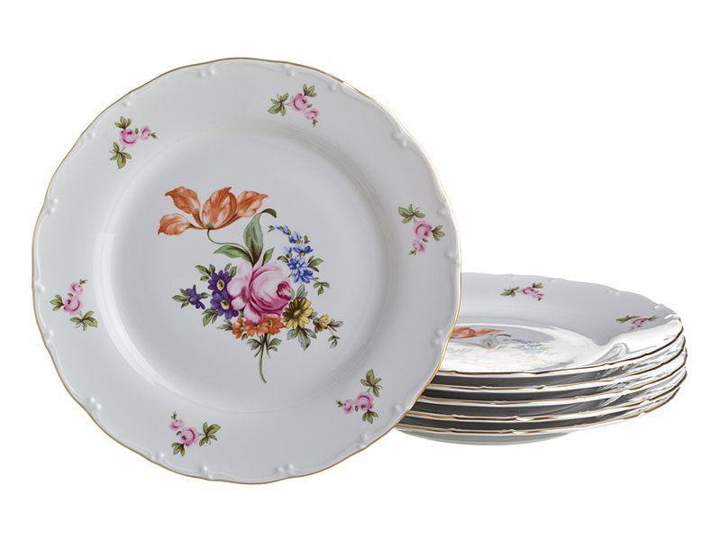 "Набор тарелок ""Майсеновский Букет"", 6 шт., 17 см"