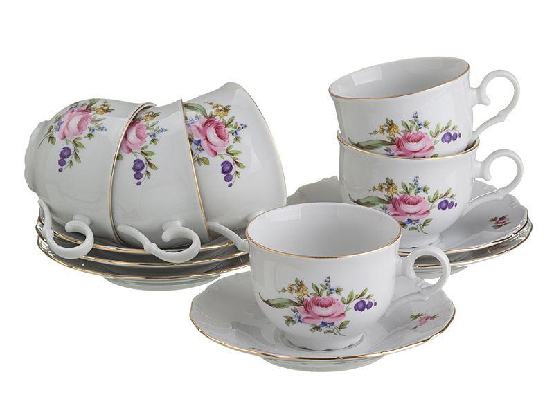 """Чайный набор на 6 персон """"Майсенский Букет"""", 12 пр., 210 мл"""