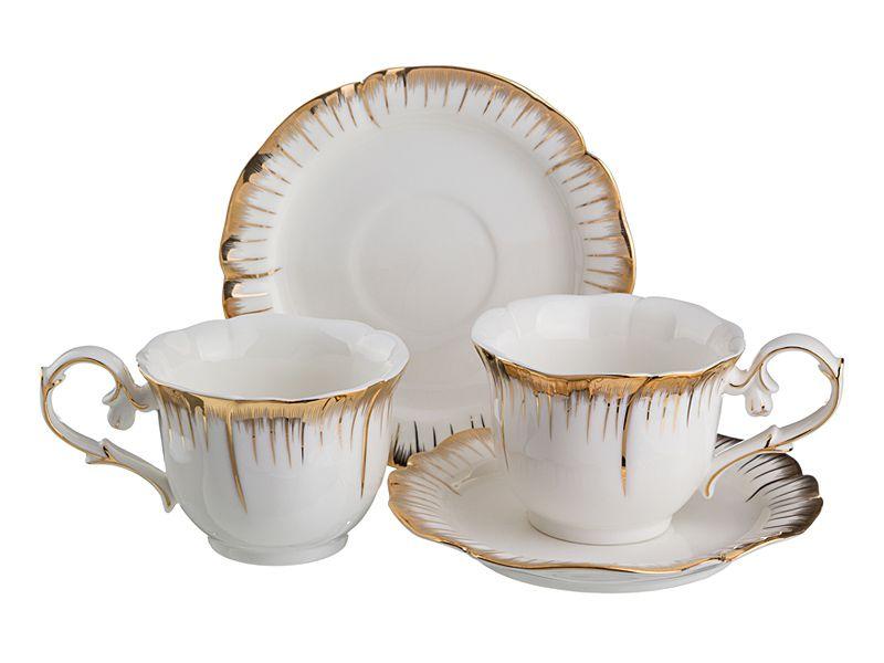 """Чайный набор на 2 персоны """"Цветочная Симфония"""", 4 пр., 200 мл"""