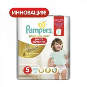 Подгузники-трусики Pampers Premium Care 5 (12-18 кг) 20 шт