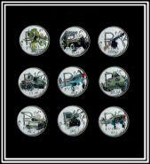 Набор монет 1 рубль 2014 года Орудия Победы, 9шт
