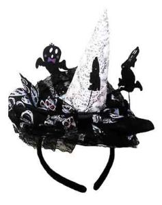 Мини шляпка Ведьмы на ободке