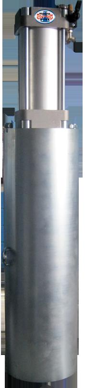 Пневматическая установка по заправке аэрозольного  полупродукта