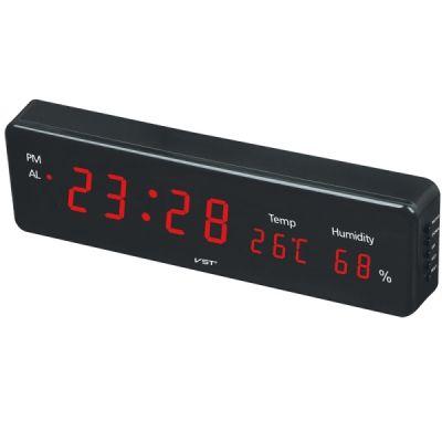 Часы эл. VST805S-1 крас.цифры