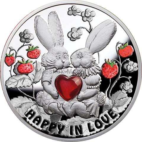 1 доллар островного государства Ниуэ 2012 года Счастливы в лювби