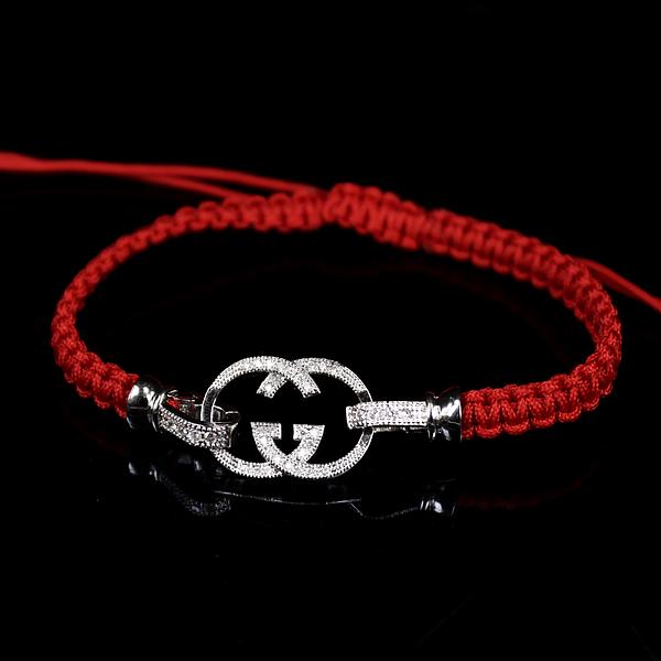 """Браслет Fashion Jewelry 297-033. Браслет """"Красная нить"""" с цирконом"""