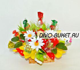 """Детский букет из конфет и Кити №643 """"Мяу"""""""