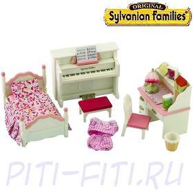 """Sylvanian Families. Набор """"Детская комната"""", бело-розовая"""