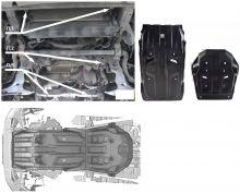 Защита картера и кпп, АВС-Дизайн, композитная 10мм., V - все