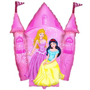 Замок принцесс фольгированный шар с гелием