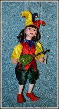 Кукла-марионетка Шут Каспер (Чехия, Praha, Hand Made, авторы  Ивета и Павел Новотные)