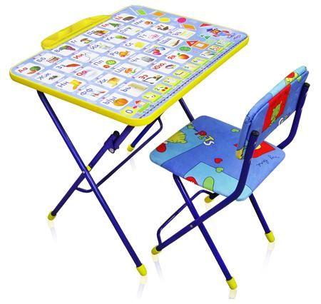 """Комплект КУ2 """"Азбука""""(стол+стул мяг.+пенал) детский складной"""