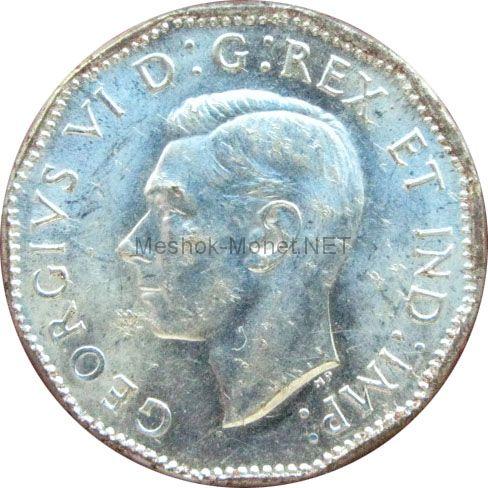 Канада 5 центов 1945 г.