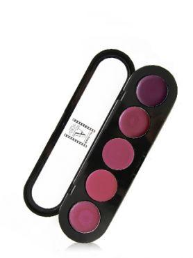 Make-Up Atelier Paris Lipsticks Palette 19 Pink violet Палитра помад из 5 цветов №19 фиолетовая
