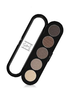 Make-Up Atelier Paris Palette Eyeshadows T24 Urban grey Палитра теней для век №24  серо - бежевый металлик (серо-бежевые перламутровые тона)