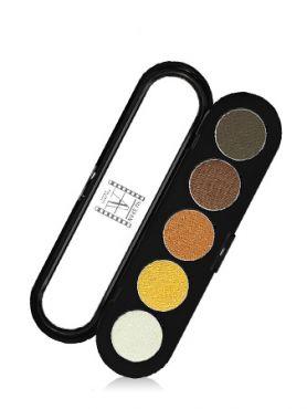 Make-Up Atelier Paris Palette Eyeshadows T14 Golden tones Палитра теней для век №14 золотисто-оранжевые тона