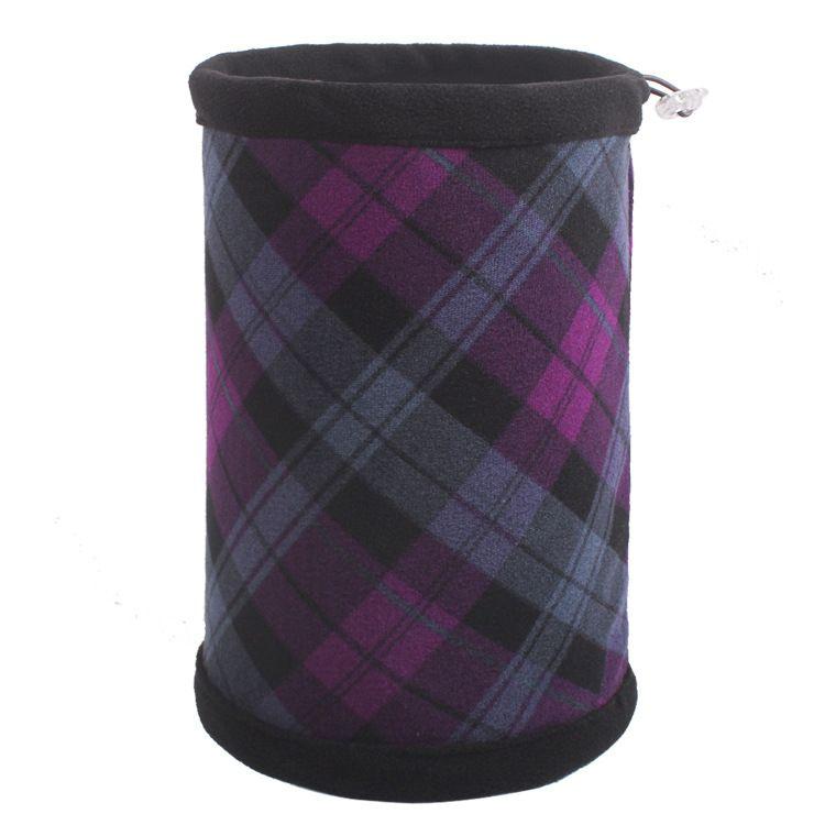 Шапка-шарф в шотландскую клетку