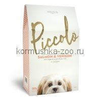 Piccolo Grain Free сухой корм для собак и щенков мелких пород (лосось/олень)