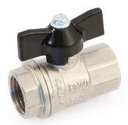 Кран шаровой полнопроходной, ВР/ВР, ручка бабочка 1/2  STOUT  Арт. SVB-0002-000015