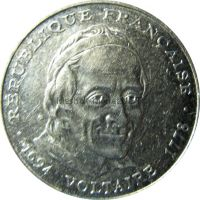 Франция 5 франков 1994 г.