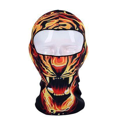 Балаклава c 3D принтом тигра